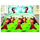 3D Active Printing Bed Quilt Duvet Sheet Cover 4PC Set Upscale Cotton 019