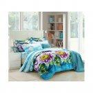 3D Active Printing Bed Quilt Duvet Sheet Cover 4PC Set Upscale Cotton 014