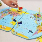 World Classic Elite Wall Map Poster WallFlag Stand, World Map And 36 Flags