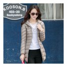 Light Thin Down Coat Woman Middle Long Hoodied Bust 116cm
