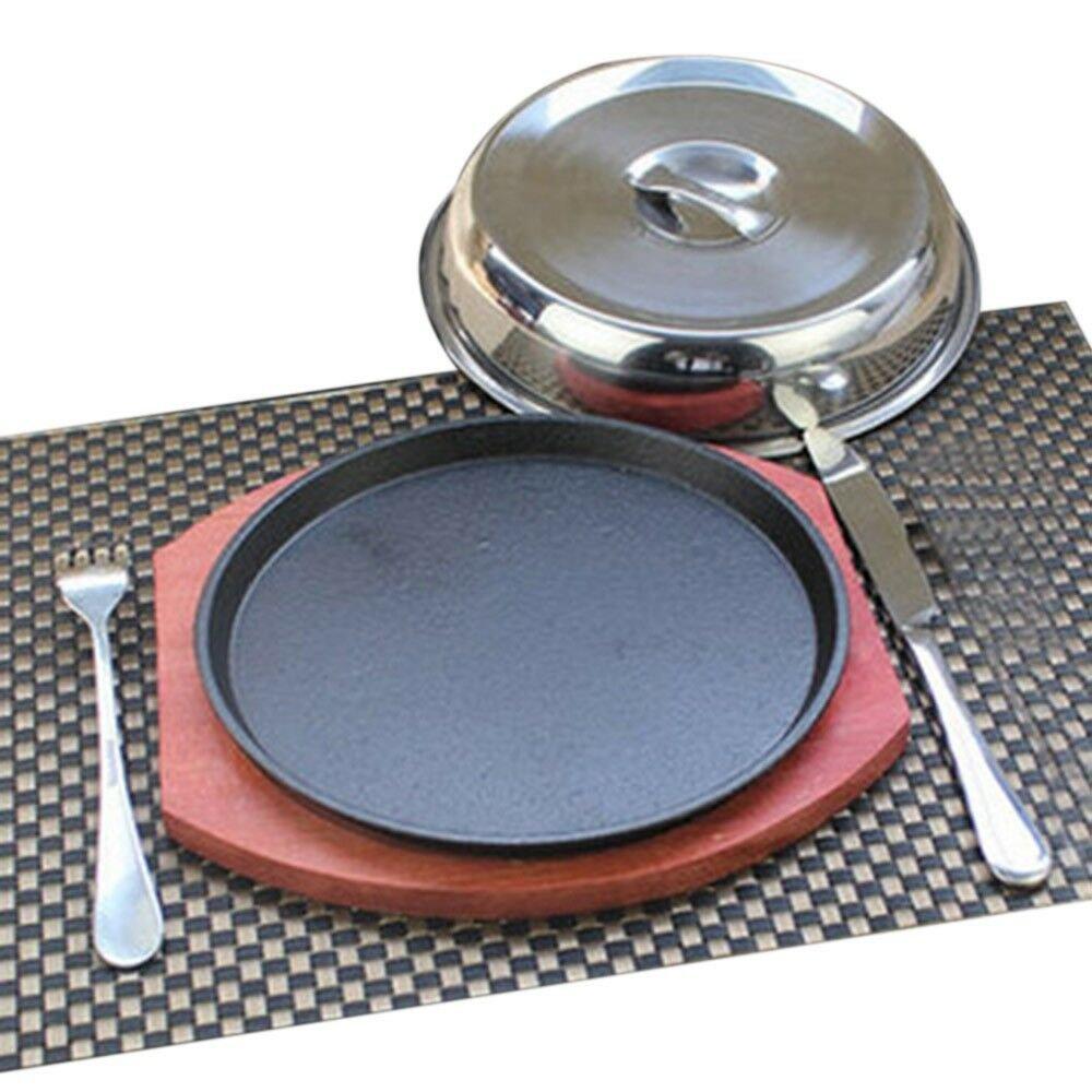 Grilled Fillet Steak rosewood bottom 21cm iron plate fork