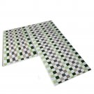 Mosaic Ground Foot Door Non-slip Mat Carpet   green  45*60cm