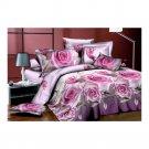 3D Flower Bed Quilt/Duvet Sheet Cover 4PC Set Cotton Sanded 007