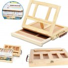 Wooden Table Easel with Drawer Adjustable