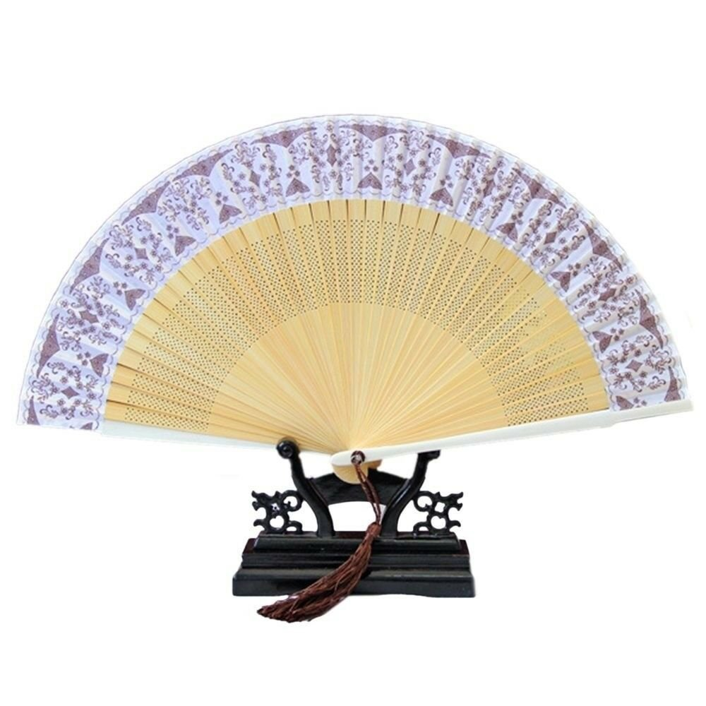 Folding Fan Artware Blue and White Porcelain    QHC-03(coffee surface)