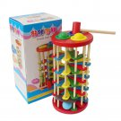 Wooden Colorful Knock Ball Ladder Kids Toy