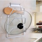 Pan Pot Lid Organizer Wall Mounted Storing Cookware Cutting Board Holder 3 tiers