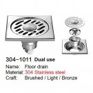 SELECT 304-1011 DUAL USE 304 Stainless steel floor drain PRINCE FOX