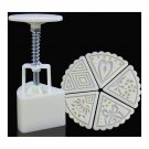 Sector shape Moon Cake Pastry Mold Hand Pressure 50g One Barrel 5 Flower piece b