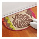 Dacron Semi-circle Foot Ground Non-slip Mat Carpet   Turkish fallen leaves
