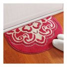 Dacron Semi-circle Foot Ground Non-slip Mat Carpet   joy