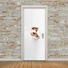 New 3D DIY PVC Waterproof  Door Wall Sticker Peering View qd014