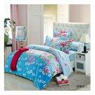 Bed Quilt Duvet Sheet Cover 4PC Set Upscale Cotton 100% 023