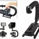 U shape Bracket Handheld Grip Stabilizer for DSLR Camera Camcorder Video