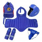 Free Combat & Boxing Protective Gear 5pcs Set with Bag blue S