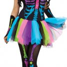 Funky Punk Bones Adult Womens Costume HALLOWEEN