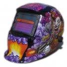 Auto Darkening Lenses in Welding Helmet with Head Straps & Deadly Graphic Design