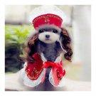 Dog Pet Clothes Cloak Wig Hat Suit   PF20 red