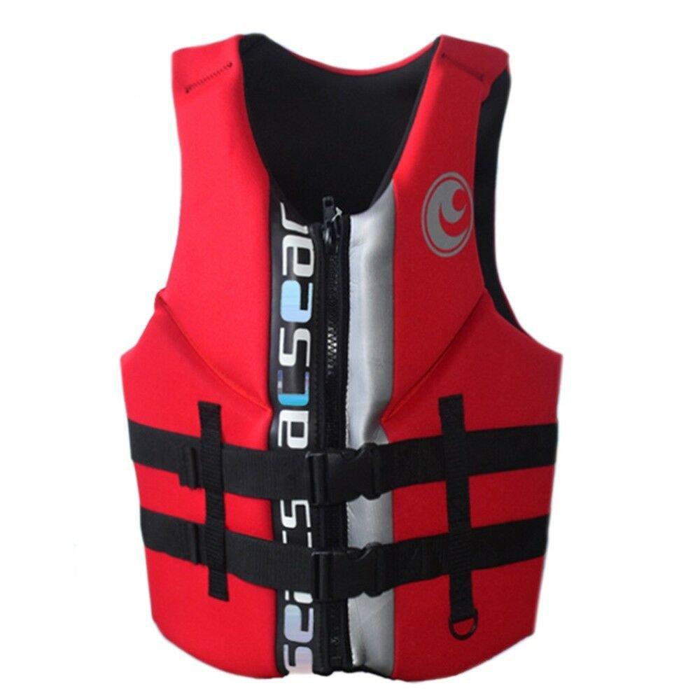 L004 L010 L011 Life Jacket Surfing Fishing Drifting Vest   red   S