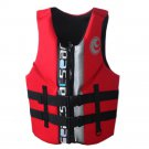 L004 L010 L011 Life Jacket Surfing Fishing Drifting Vest   red   S