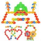 128pc Child Kid Plastic Multicolor Snowflake Building Blocks Educational Toy