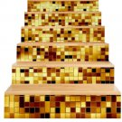 New 3D DIY PVC Waterproof  Stair Decals Wall  Floor Sticker  Mosaic Gold QS004G