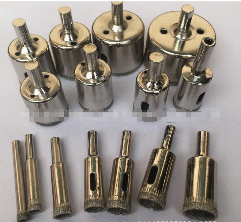 15 Pcs 6-50mm Diamond Drill Bits Set Hole Saw Cutter Tool Glass Marble Tile