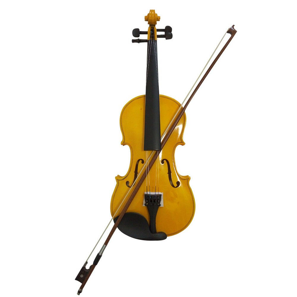 Full 4/4 Maple Spruce with Case Bow Rosin All Gold Color Student Acoustic Violin