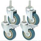 """3"""" Castor Wheels Kit 4pcs Pack 100mm"""