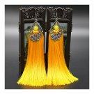 Long Earrings Tassel Fringe Vintage Bridal