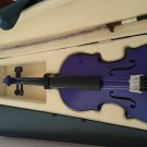 Student Acoustic Violin Full 1/4 Maple Spruce with Case Bow Rosin Purple Color