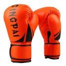 Boxing Gloves PU Free Combat Adult Gloves orange