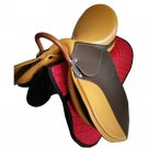 Comprehensive Saddle Visitor Short Horse Equestrian Supplies   brown+yellow