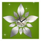 Acrylic Home Sticking Wall Clock Five-pointed Star Flower