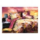 3D Flower Bed Quilt/Duvet Sheet Cover 4PC Set Cotton Sanded 005