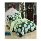 3D Flower Bed Quilt/Duvet Sheet Cover 4PC Set Cotton Sanded 016