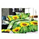 3D Flower Bed Quilt/Duvet Sheet Cover 4PC Set Cotton Sanded 024