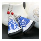 Cloth Embroidery Long Earrings Stylish