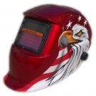 Auto Shade Welding Helmet in Red Color for All Welding Processes with Eagle Desi
