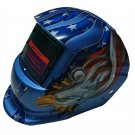 Best Welding Helmet in Brilliant Blue Color with Stylish Eagle Jaw Graphics