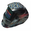 Skull Auto Darkening Welding Helmet in Brilliant Black with Stylish Eagle Graphi