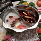 Extra-thick stainless steel sun two-flavor hot pot eight-angle hot pot size 34