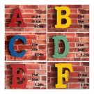 Exquisite America Vintage Letters Wall Hanging Decoration   C