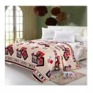 Two-side Blanket Bedding Throw Coral fleece Super Soft Warm Value 200cm 32