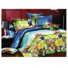 3D Active Printing Bed Quilt Duvet Sheet Cover 4PC Set Upscale Cotton 003
