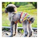 Rainbow Design Dog Suspender Physiological Pants 10#
