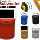 3D Subwoofer Bluetooth Speaker with holder FM Radio TF card USB 4 iphone laptop