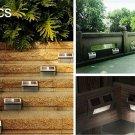 2Pcs Solar LED Step Door Fence Wall Outdoor Garden Lighting Lamp Lights