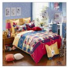Bed Quilt Duvet Sheet Cover 4PC Set Upscale Cotton 100% 011