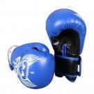 Boxing Gloves Adults Kids Free Combat Tournament Training Blue Black